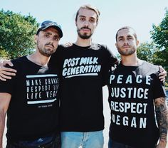 Vegan activist squad (@joey_carbstrong @earthlinged @jamesaspey)