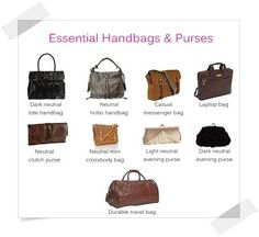 Essential Handbags - Your Wardrobe Essentials