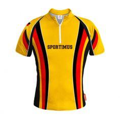 NIEMCY Żółta Koszulka Rowerowa z Własnym Nadrukiem