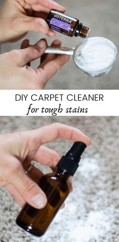 Making your own carpet cleaner just got easier with this simple carper cleaner DIY. IF you have little ones in the house or pets this homemade carpet cleaner is a must. It is the best spot carpet cleaner and it is made with all-natural ingredients, making it safe for everyone. #diycarpetcleaner #carpetcleaner #essentialoilsforcleaning #naturalcleaning #homemade cleaners Natural Cleaning Recipes, Homemade Cleaning Products, Natural Cleaning Products, Cleaning Hacks, Natural Products, Carpet Stain Cleaner, Natural Carpet Cleaners, Diy Cleaners, Cleaners Homemade