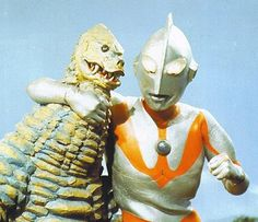 Ultraman poses for the camera with his buddy Red King Christopher Eccleston, Doctor Who, Giant Monster Movies, Avatar Picture, Kids Part, Japanese Monster, Horror Monsters, Pose For The Camera, Old Shows