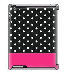 Uncommon LLC Mini Black Dots Block - Fuchsia Deflector Hard Case for iPad 2/3/4 (C0010-FX)