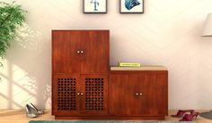 Buy Epson Shoe Footwear Storage (Honey Finish) Online in India - Wooden Street Wooden Street, Foyer Design, Wood Shoe Rack, Wardrobe Door Designs, Shoe Rack Closet, Rack Design, Shoe Cabinet Entryway, Diy Home Decor Projects, Home Decor Furniture