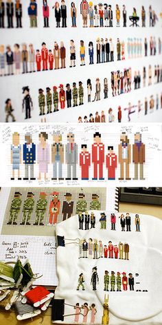 Cross-stitch Mini-pops! My head my have just exploded a little - awesomeness :)