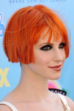 short orange bob