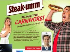 Quaker Maid Meats, Inc.  Steak-Umm Release Your Carnivore! PS4 Giveaway Sweepstakes