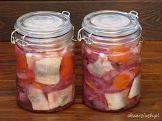 Śledzie na cztery sposoby - Obżarciuch Mason Jars, Impreza, Food, Essen, Mason Jar, Meals, Yemek, Eten, Glass Jars