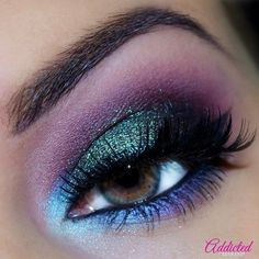 Arabian night makeup #eyeshadow #eyemakeup  #blueliner - bellashoot