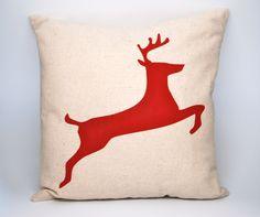 Christmas Pillow Cover  Reindeer  Toss Pillow  by HowardInteriors, $29.95