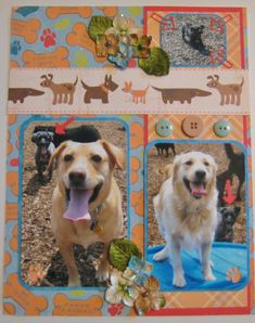 DRESS IT UP Buttons It/'s A Dog/'s Life 3116 Dogs Puppies Kennel Bones