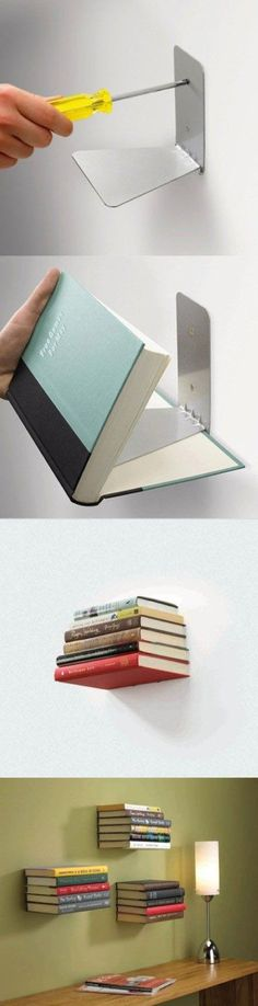 Floating book shelf and more cool ideas