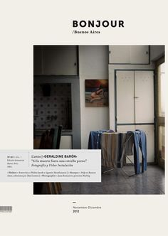 Bonjour | Photo & Art Magazine by Iara Kremer, via Behance