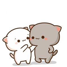 Cute Cartoon Images, Cute Love Cartoons, Cute Cartoon Wallpapers, Cute Anime Cat, Cute Cat Gif, Cute Love Gif, Cute Love Pictures, Chibi Cat, Cute Chibi
