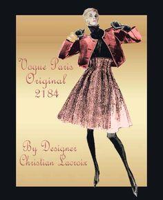 1980s Jacket and Skirt Pattern Vogue Paris by FloradoraPresents, $70.00