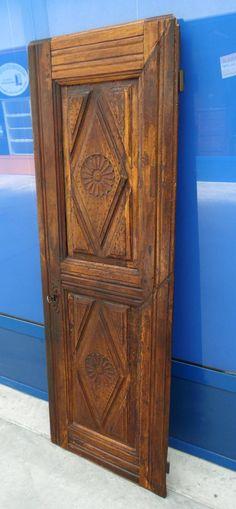 Porta d'armadio in legno dolce fine '700 bocchetta originale pannello a rombo+