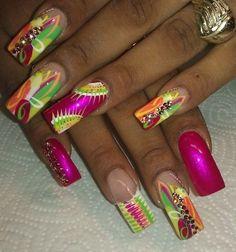 wat u know bout me? by RainbowNailz - Nail Art Gallery nailartgallery.nailsmag.com by Nails Magazine www.nailsmag.com #nailart