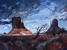 Monument Valley - Oil Painting by Erin Hanson