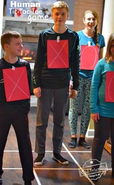 Human Tic-Tac-Toe Game – A Fun Game to Play With Kids, Teens and Adults. This is such a fun game. Perfect for holiday parties like Valentine's Day, Christmas and even New Years Eve!kidfriendlyth… Source by kidfriendlyttd Games To Play With Kids, Group Games For Kids, Activities For Teens, Games For Teens, Kids Party Games, Adult Games, Kids Church Games, Tween Games, Party Activities