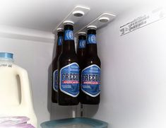 Have a lot of bottles to organize in the refrigerator? What you can definitely use is the BottleLoft.
