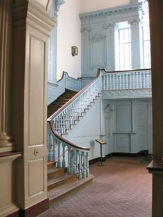 TheFullerView - c-laritty: inside independence hall! Interior Stair Railing, Hall Interior, Interior Design, Beautiful Architecture, Interior Architecture, Federal Style House, Balustrades, Independence Hall, California Real Estate