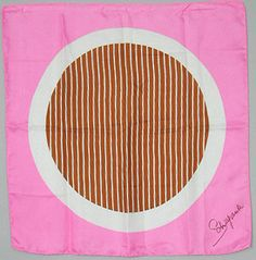 Schiaparelli Pink Silk Graphic Scarf      - Her designs truly are timeless