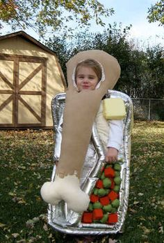 This enormous TV dinner - Great halloween costumes for kids and adults