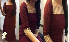 Kurta Designs Women, Kurti Neck Designs, Dress Neck Designs, Salwar Designs, Indian Attire, Indian Wear, Stylish Dresses, Simple Dresses, Trendy Kurti