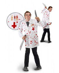 Bloederig dokters kostuum.