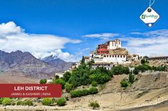 Leh is one of the two districts located in Ladakh, the other being the Kargil District to the west, in the state of Jammu and Kashmir, India. With an area of 45,110 km2. As of 2011 it is the second least populous district of Jammu and Kashmir (out of 22), after Kargil.