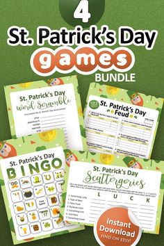 St Patrick's Day Games, Valentine's Day Party Games, Holiday Party Games, Adult Party Games, Valentine Bingo, Valentines Day Party, Family Feud Game, Family Games, Printable Bingo Games