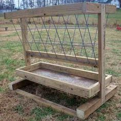 How to Build a Small Hay Feeder for Sheep or Goats or other Livestock - Farm and Garden - GRIT Magazine Diy Hay Feeder, Goat Hay Feeder, Hay Feeder For Horses, Horse Feeder, Feeder Cattle, Livestock Farming, Goat Farming, Sheep Feeders, The Farm
