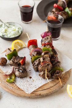 Ostrich fillet kebabs with zucchini tzatziki recipe #osterich #healthy #recipe