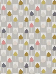 Sula in flamingo, honey and linen, a feature wallpaper from Scion, featured in the Lohko collection.