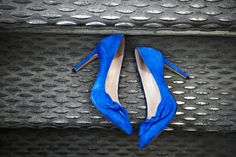 Blue Bow Heels.