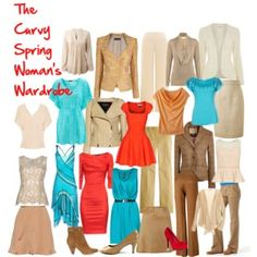 The Curvy Spring Woman's Wardrobe