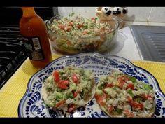 Tostadas  Ceviche de pescado