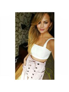 Prettiest Instagrams of the Week: Chrissy Teigen's white crop top and button-front cargo skirt