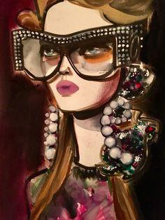 Illustration.Files: Gucci Fashion Illustration by Astrid Vos
