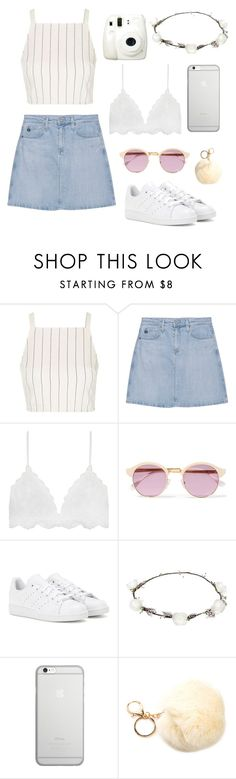 """classy"" by josefiinazzz ❤ liked on Polyvore featuring Topshop, Fuji, AG Adriano Goldschmied, Sheriff&Cherry, adidas, Lipsy and Native Union"