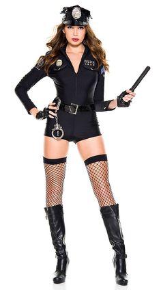 Sexy Cop Romper Costume, sexy police costume - Yandy.com