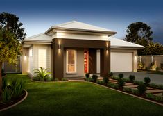 Birchgrove Facade - Another! Front Yard Garden Design, Front House Landscaping, Barrington Homes, Affordable House Plans, Modern Bungalow House, Model House Plan, Exterior Makeover, House Landscape, Facade House