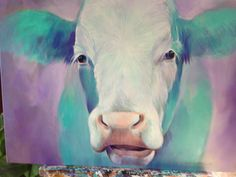 Color-cow Cows, Painting, Animals, Cow Pictures, Canvas, Animaux, Painting Art, Animal, Paintings