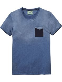 Mesh Pocket T-Shirt |Jersey s/s tee's & tops|Men Clothing at Scotch & Soda