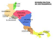 Geography for Kids: Central America and the Caribbean Nicaragua Managua, Geography For Kids, Maps For Kids, Tegucigalpa, Central America Map, South America, Logo Del America, Honduras, Learning Spanish