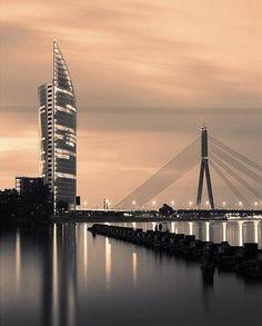 The Sun Stone building in all its magnificence in Riga!