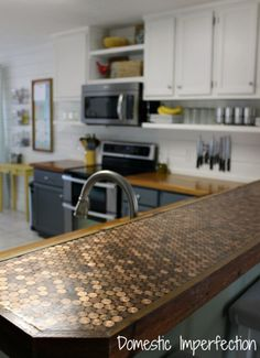 Penny Countertop and Farmhouse Kitchen - Domestic Imperfection