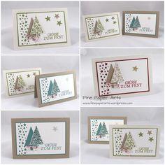 Bildergebnis für stampin up weihnachten 2017 Simple Christmas Cards, Homemade Christmas Cards, Stampin Up Christmas, Christmas Cards To Make, Homemade Cards, Handmade Christmas, Holiday Cards, Xmas Cards Handmade, Christmas Stars