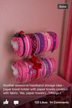 Headband storage kind of like the idea of them hanging on the wall instead of taking up counter space