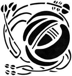 STGS061 Glasgow Mackintosh Stencil Rose Special 1