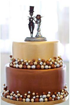 steam punk wedding cake -- this is great, still classy.